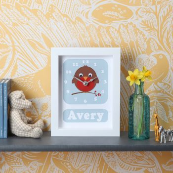 stripey-cats-personalised-robin-clock