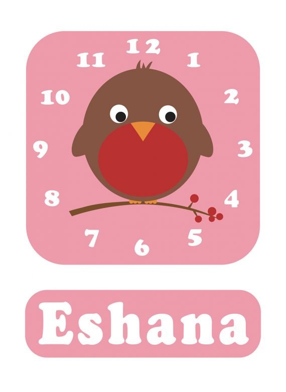 Stripey-cats-Robin-Clock-Pink-01