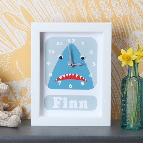 Stripey-cats-Personalised-Shark-Clock