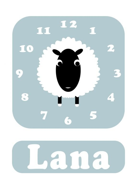 Stripey-cats-Sheep-Clock-Blue-01