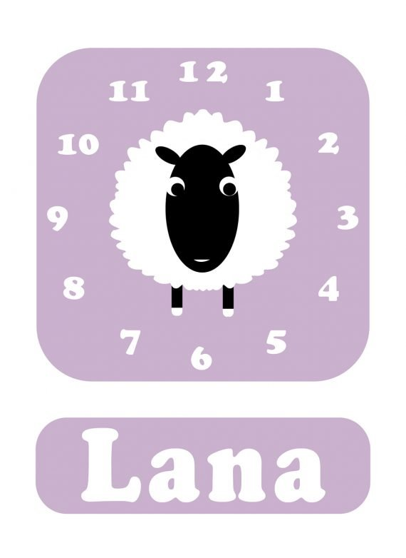 Stripey-cats-Sheep-Clock-Lilac-01