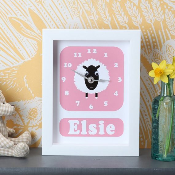 Stripey-cats-personalised-Sheep-clock