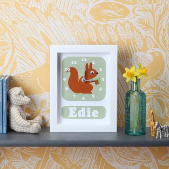 stripey-cats-personalised-squirrel-clcok
