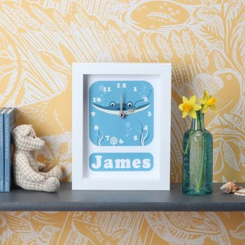 Stripey-cats-Sting Ray Clock