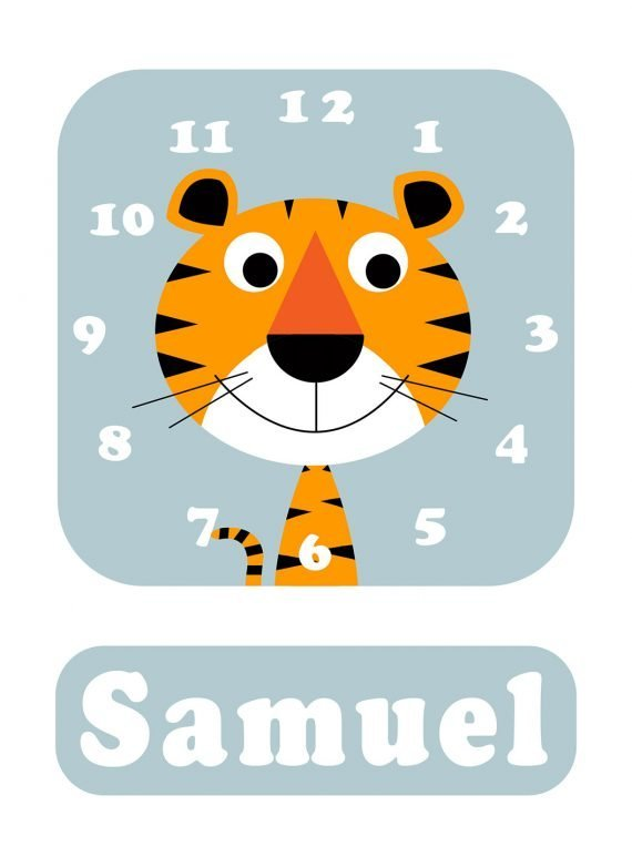 Stripey-cats-Tiger-Clock-Blue-01
