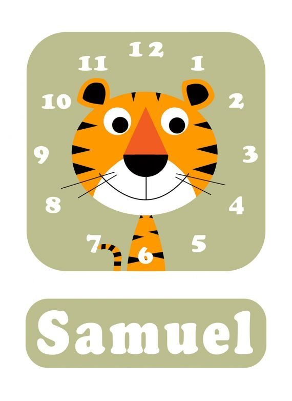 Stripey-cats-Tiger-Clock-Green-01