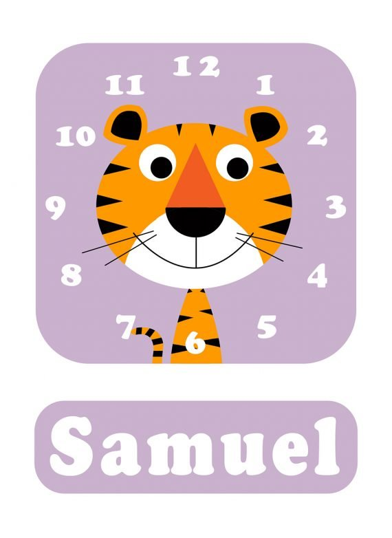 Stripey-cats-Tiger-Clock-Lilac-01