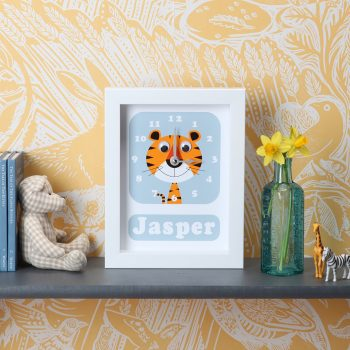 stripey-cats-personalised-clock-tiger