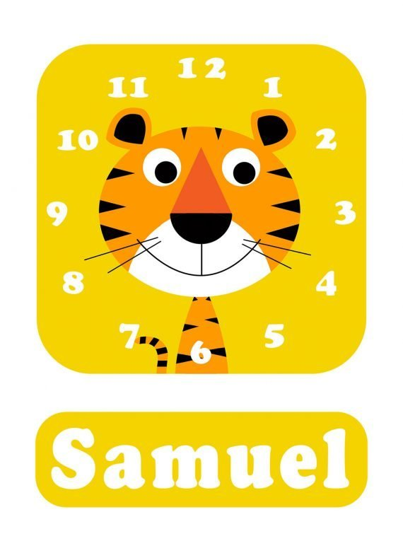 Stripey-cats-Tiger-Clock-Yellow-01
