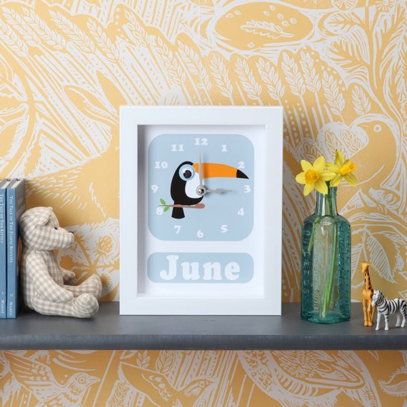 Stripey-cats-Toucan-Clock