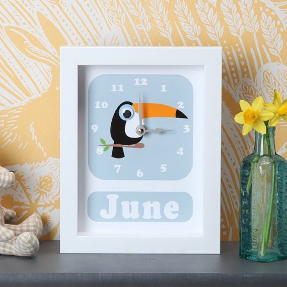 Stripey-cats-Personalised-Toucan-Clock
