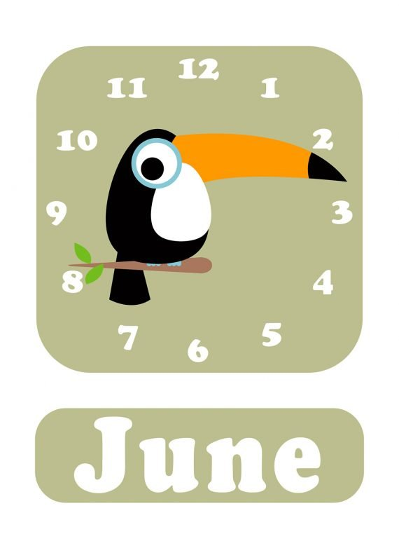 Stripey-cats-Toucan-Clock-green-01