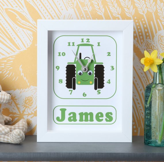 Stripey-cats-Tractor-Clock