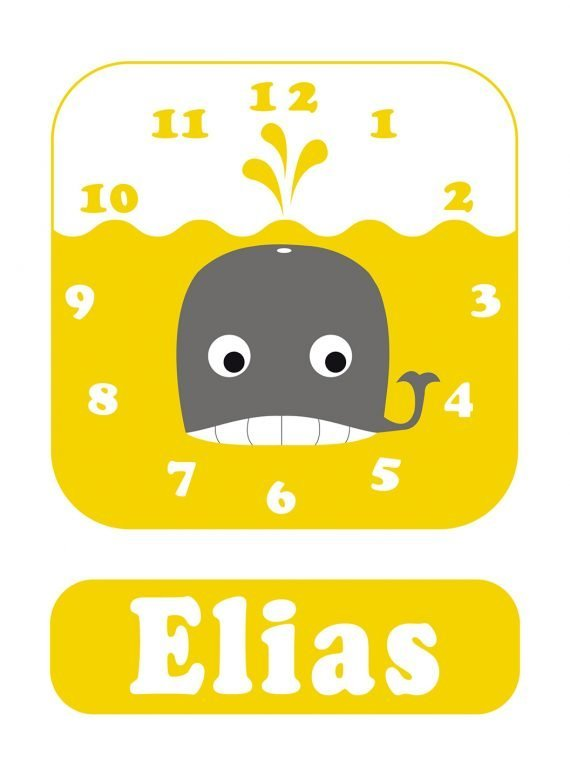 Stripey-cats-Whale-Clock-Yellow-01