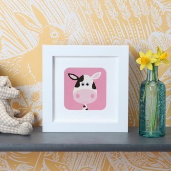 Stripey-Cats-Cow-Frame-Print