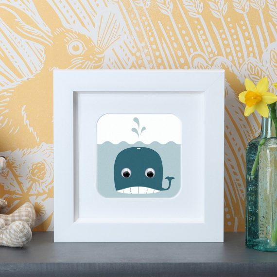 Stripey-Cats-Whale-Frame-Print