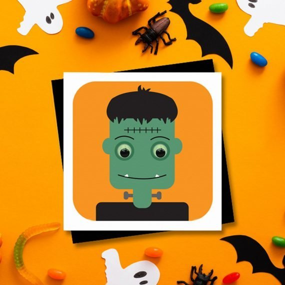 Frankenstein-Halloween-Party-Card-invitation