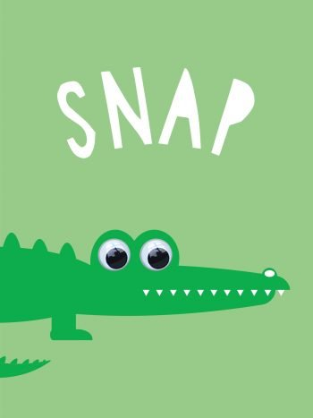 Snap Crocodile Card