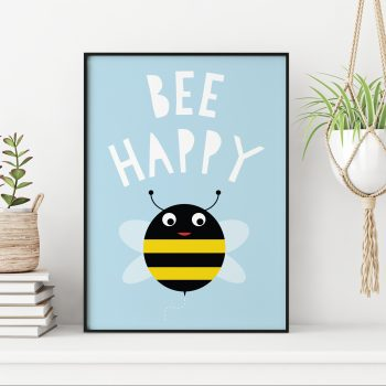 stripey-cats-bee-happy-bee-print