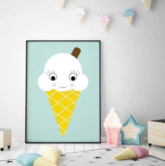 Ice Cream Nursery print by Stripey Cats