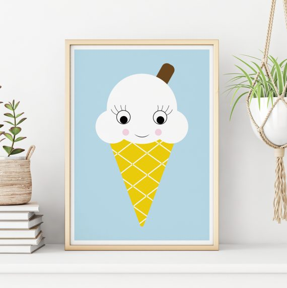 Ice Cream Nursery wall Art