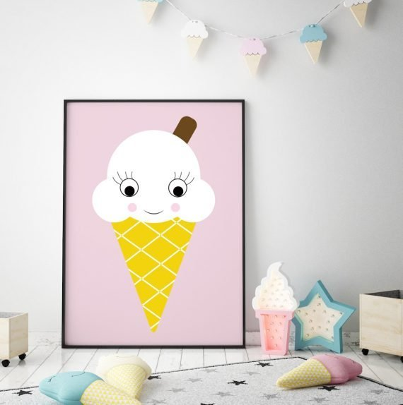Ice Cream Print by Stripey Cats