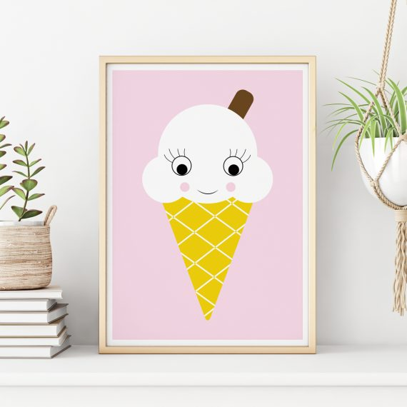 Ice Cream Nursery Decor Print