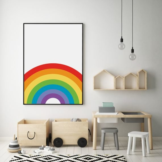 Rainbow Nursery Print by Stripey Cats