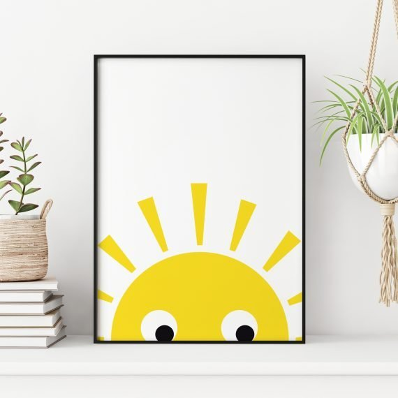 Rising-Sun-Childrens-bedroom-Print-by-Stripey-Cats