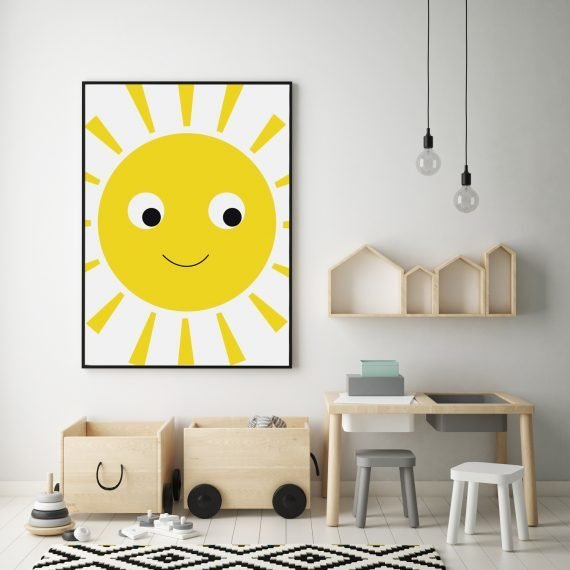 Sunshine Wall Print by Stripey Cats