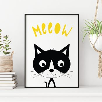 stripey-cats-monochrome-kitten-print