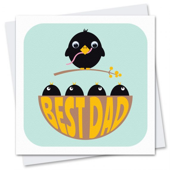 620 Best-Dad-birthday-fathers-day-card by Stripey Cats