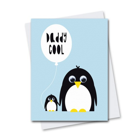 624-Daddy-Cool-Penguin-Birthday-Card-Stripey-Cats
