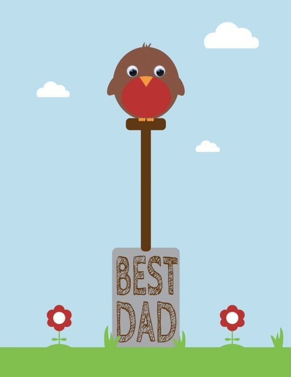 Stripey Cats Best Dad Garden Dad Card