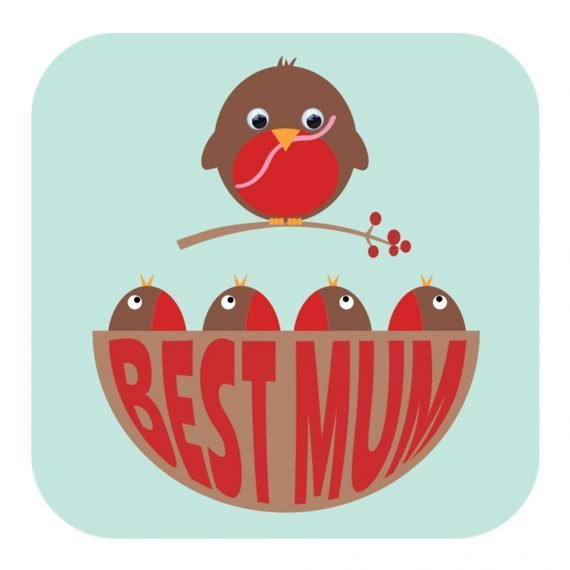 Best Mum card by Stripey Cats