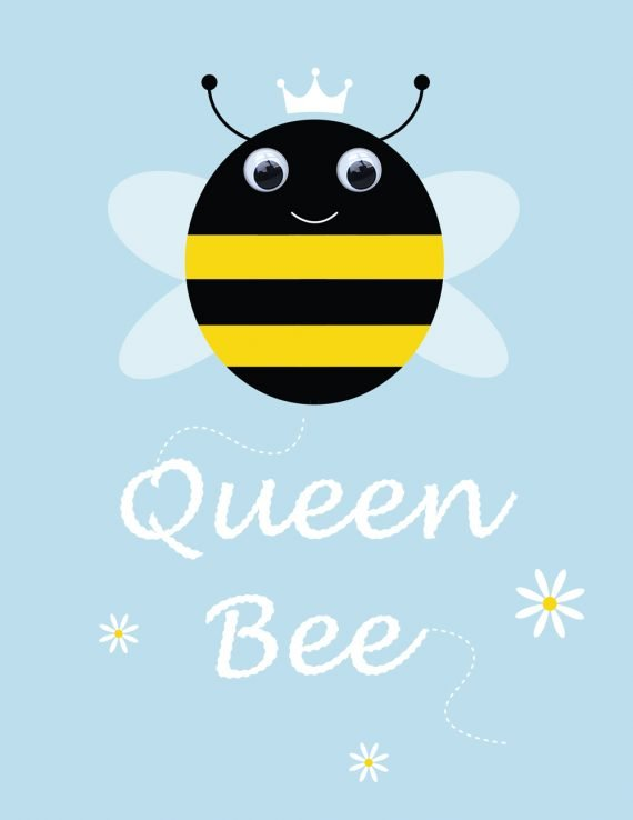 Queen Bee Greetings Card by Stripey Cats