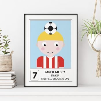 stripey-cats-personalised-football-player-print