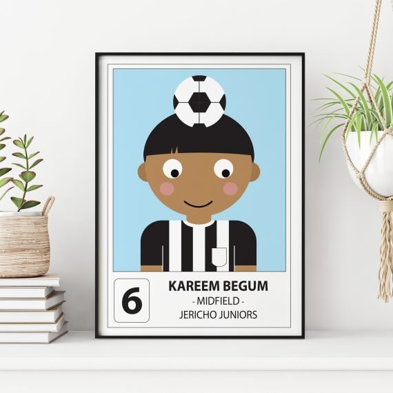 Personalised Football Player Print