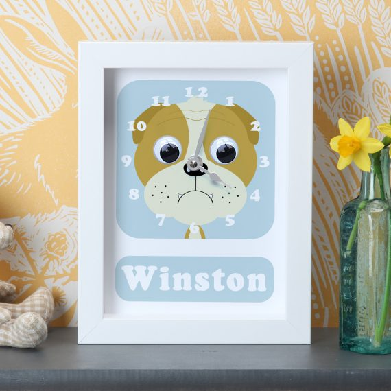 Stripey-Cats-Personalised-British-Bulldog-Clock