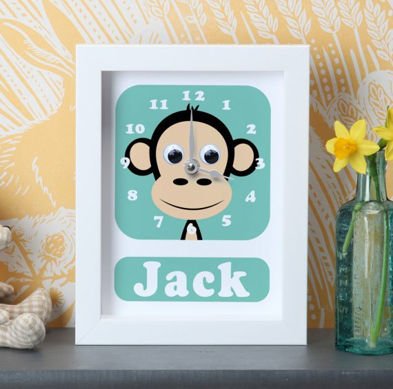 Stripey-Cats-Personalised-Chimp-Clock
