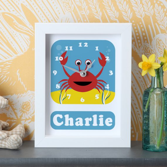 Stripey-Cats-Personalised-Crab-Clock