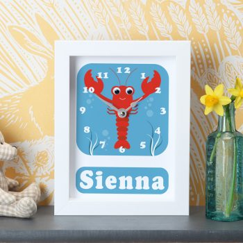 stripey-cats-personalised-sea-life-lobster-clock