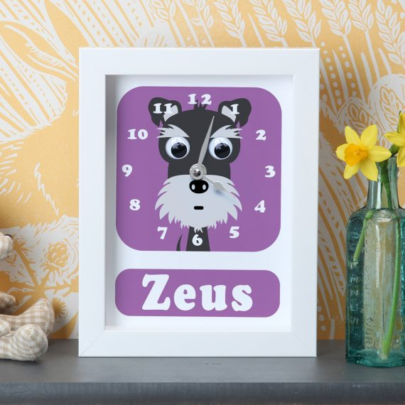 Stripey-Cats-Personalised-Schnauzer-Clock