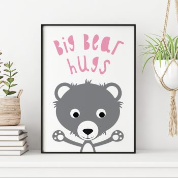 stripey-cats-big-bear-hugs-nursery-print