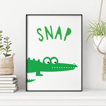 stripey-cats-animal-sounds-crocodile-snap-nursery-print