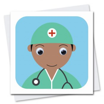 doctor-nhs-thinking of you card