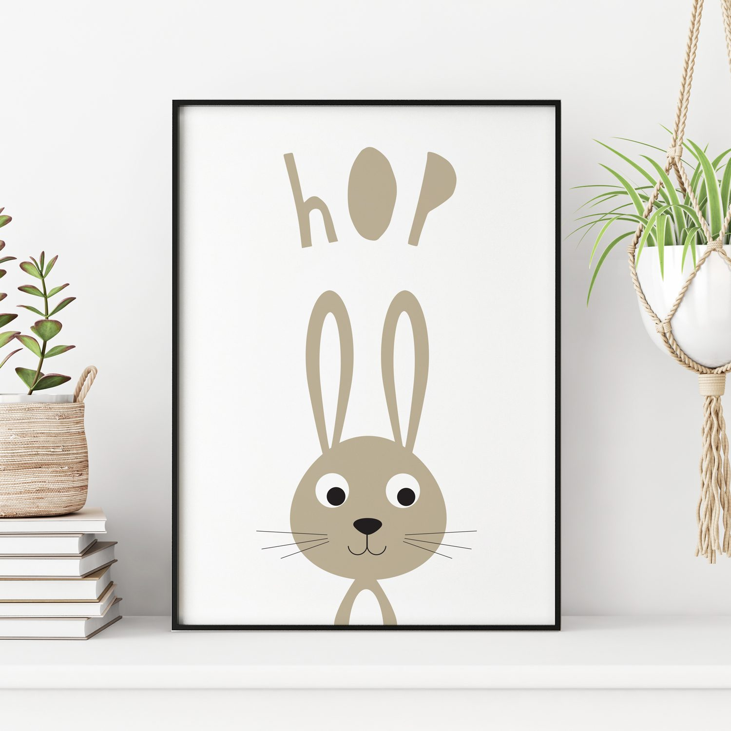 stripey-cats-bunny-rabbit-hop-easter-nursery-print