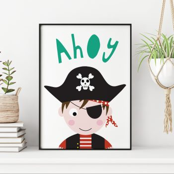 stripey-cats-pirate-ahoy-nursey-print