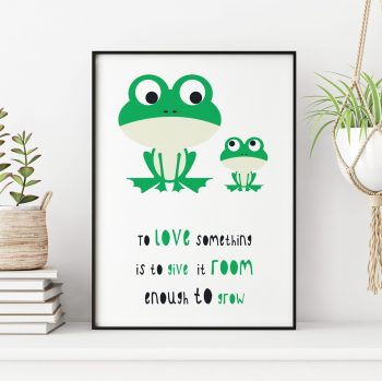 stripey-cats-to-love-something-quote-frog-print