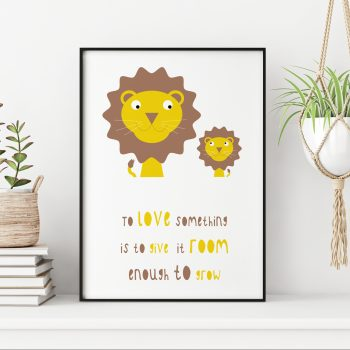 stripey-cats-to-love-something-lion-nursery-quote-print